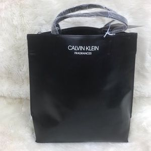 Calvin Klein Large Black Tote Purse Holdall Bag